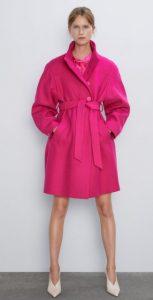 φούξια γυναικείο παλτό με ζώνη ediva.gr