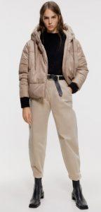 φουσκωτό γυναικείο μπουφάν με κουκούλα