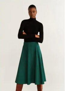 φούστα midi πράσινη