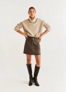 φούστα mini με φερμουάρ