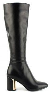 γυναικεία ψηλοτάκουνη μπότα με λεπτομέρεια στο τακούνι