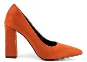 πορτοκαλί γυναικεία ψηλή γόβα