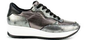 γυναικείο sneaker migato με μεταλλική απόχρωση