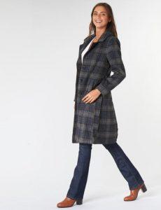 γκρι καρό παλτό