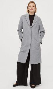 γκρι μακρύ γυναικείο παλτό