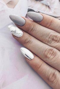 γκρι νύχια marble σχέδια χρώματα νυχιών φθινόπωρο