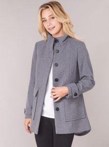γκρι παλτό benetton