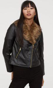 γυναικείο δερμάτινο μπουφάν με γούνα