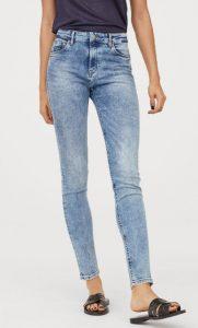 γυναικείο εφαρμοστό ξεβαμμένο jean παντελόνι