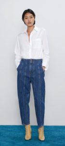 γυναικείο jean φαρδύ παντελόνι