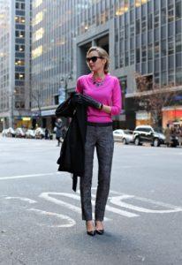 ίσιο γκρι παντελόνι φουξ πουλόβερ
