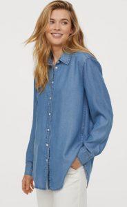 τζιν γυναικείο πουκάμισο