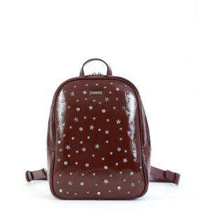 καφέ backpack με αστέρια