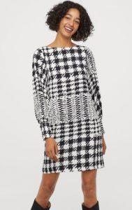 καρό χειμωνιάτικο φόρεμα h&m 2020