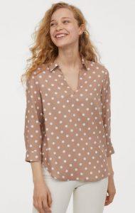 καθημερινή πουά γυναικεία μπλούζα