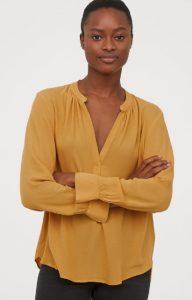 κίτρινη φθινοπωρινή γυναικεία μπλούζα 2019