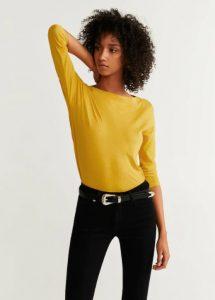 κίτρινη μακρυμάνικη μπλούζα