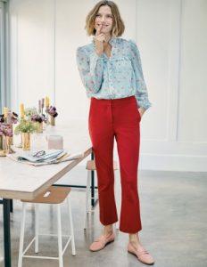 κόκκινο κοντό παντελόνι καμπάνα