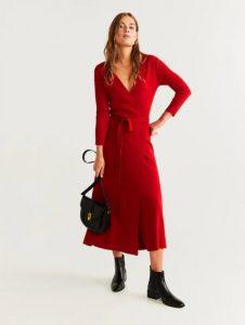 κόκκινο μακρύ φόρεμα