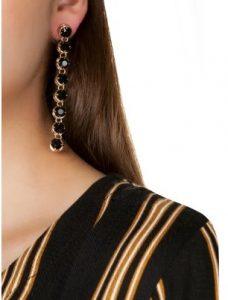 κρεμαστά σκουλαρίκια με πέτρες