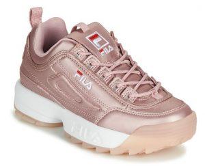 ροζ λαμέ fila sneakers