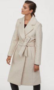 λευκό γυναικείο παλτό h&m 2020