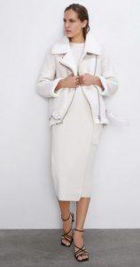 λευκό γυναικείο γούνινο μπουφάν