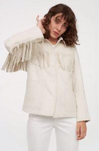 λευκό καουμπόικο γυναικείο μπουφάν