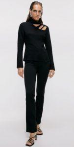 μακρυμάνικη γυναικεία μπλούζα με cut outs