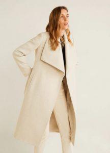 μάλλινο μπεζ παλτό