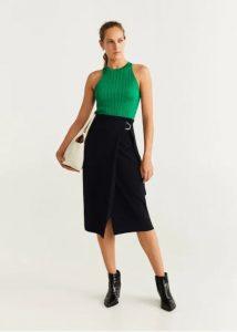 μαύρη φούστα κρουαζέ