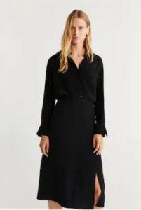 μαύρη φούστα midi