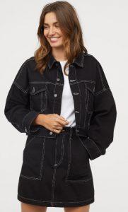 μαύρη jean φούστα φθινόπωρο 2019