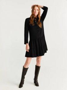 μαύρο φόρεμα πουκάμισο