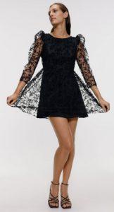 μαύρο mini φόρεμα με τούλι zara 2020