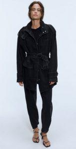 μαύρο μακρύ jean γυναικείο μπουφάν