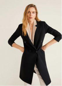 μαύρο μάλλινο παλτό