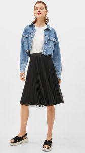 μαύρη φούστα με λάστιχο