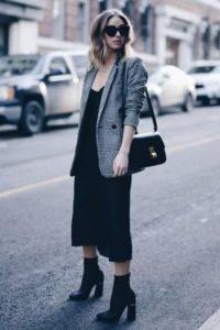 μαύρο midi φόρεμα σακάκι φορέσεις φθινόπωρο γραφείο
