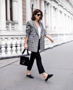 μαύρο παντελόνι καρό σακάκι