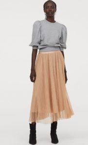μακριά φθινοπωρινή φούστα με τούλι