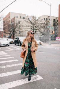 μάξι πράσινο φόρεμα καπαρντίνα