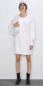 mini λευκό πλεκτό φόρεμα ediva.gr