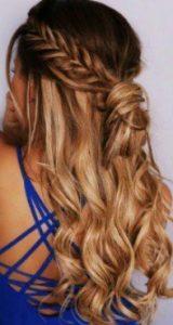 μισά μαλλιά πάνω με ψαροκόκαλο