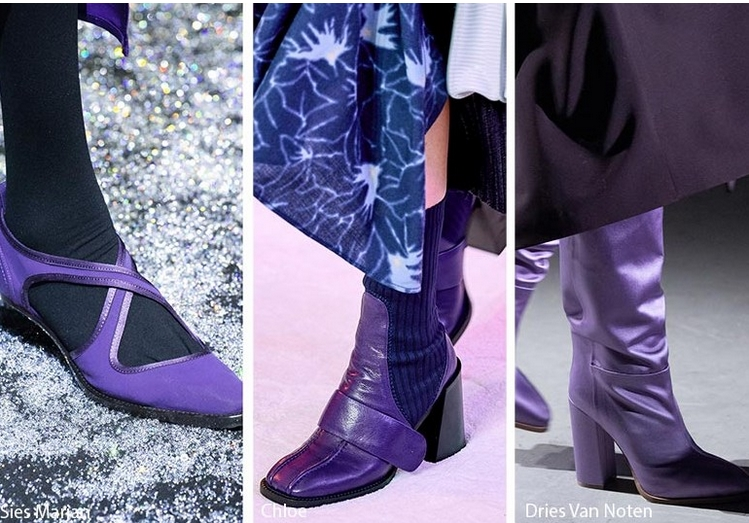 μοβ μπότες και μποτάκια