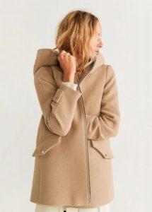 μπεζ μάλλινο παλτό