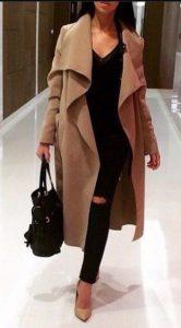 μπεζ παλτό μαύρο τζιν αμύρα ρούχα μπεζ ρούχα χειμώνα