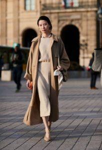 μπεζ total look παλτό μπεζ ρούχα χειμώνα