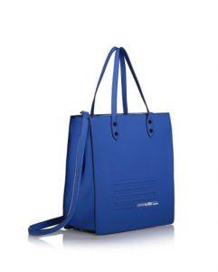 μπλε τσάντα ώμου