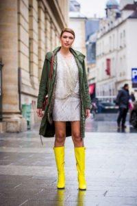 neon κίτρινες μπότες